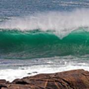 Roundstone Turquoise Wave Ireland Poster