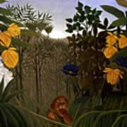 Rousseau: Lion Poster