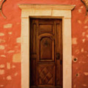 Roussillon Red And Door Poster