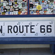 Route 66 Bench Poster