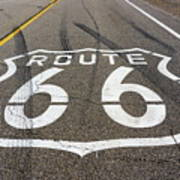 Route 66 Highway Sign Poster