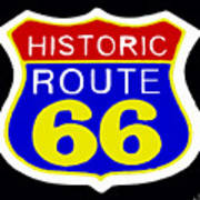 Route 66 Vintage Sign Poster