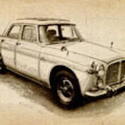 Rover P5 1968 Poster by Michael Tompsett