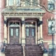 Row House Providence Rhode Island Poster