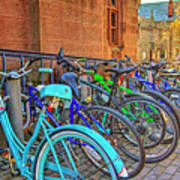 Row Of Student Bikes At Princeton University Nj Poster