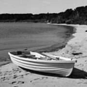 Rowboat On The Beach Poster