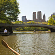 Rowing In Central Park Poster