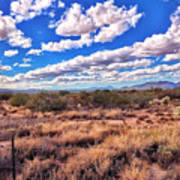 Rows Of Clouds Over Sonoran Desert Poster
