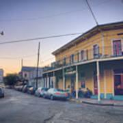 Royal And Touro Streets Sunset In The Marigny Poster