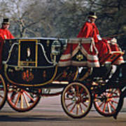 Royal Carriage At Buckingham Palace X Poster