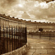 Royal Crescent Bath Somerset England Uk Poster