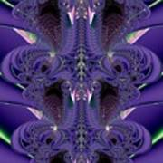 Royal Purple Backbone Fractal Abstract Poster