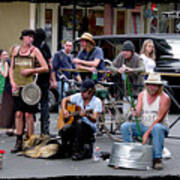 Royal Street Musicians Poster by Linda Kish