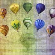 Roygbiv Balloons Poster