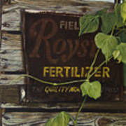 Royston Fertilizer Sign Poster