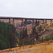 Rr Trestle Spans Lawyer's Canyon Poster