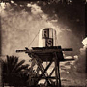 Rs Water Tower Sepia Poster