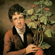 Rubens Peale With A Geranium Poster by Rembrandt Peale