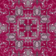 Rubies And Silver Kaleidoscope Poster