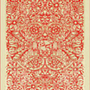 Rubino Red Floral Poster