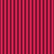 Ruby Red Striped Pattern Design Poster
