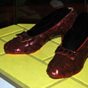 Ruby Slippers On The Yellow Brick Road Poster