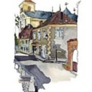 Rue Font St Jean, Ste Alvere, Dordogne Poster
