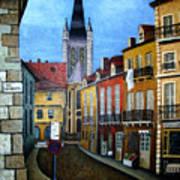 Rue Lamonnoye In Dijon France Poster