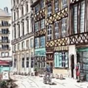 Rue Malpalu, Rouen, France II Poster