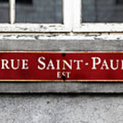 Rue Saint-paul Poster