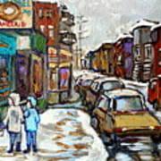 Achetez Les Petits Formats Scenes De Montreal St Viateur Bagel And Cola Truck Buy Montreal Painting  Poster