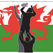 Rugby Wales Poster