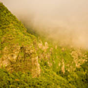 Rugged Volcanic Peaks Of Moorea Poster