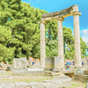 Ruin Of Philipp's Temple In Olympia, Greece Poster