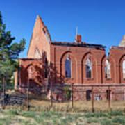 Ruined Church In Rural Utah Poster