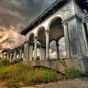 Ruins At Dusk Poster
