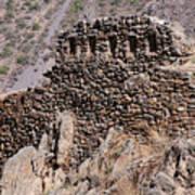 Ruins At The Ollantaytambo Site Poster