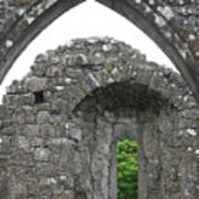 Ruins Of A 9th Century Monastery In Ireland Poster