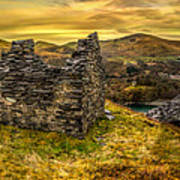 Ruins Of Snowdonia Panorama Poster