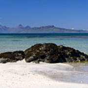 Rum And Eigg From Achateny Beach Poster