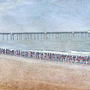 Runners On The Beach Panorama Poster