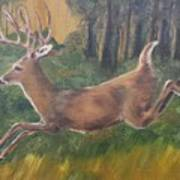 Running Buck Poster