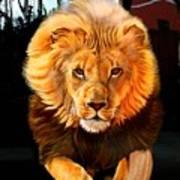 Running Lion Poster