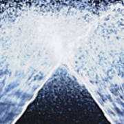 Running Water On Black Background Poster