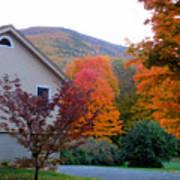 Rural Colorful Autumn Landscape 4 Poster