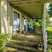 Rural Front Porch Poster