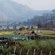 Rural Scene Near Chiang Mai, Thailand Poster by Bilderbuch