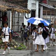 Rural School Children  Poster