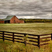 Rural Tennessee Red Barn Poster