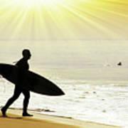 Rushing Surfer Poster